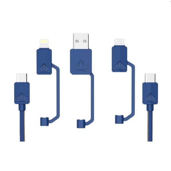 USB-PDC-3 Multifunktionales USB-Daten und Lade Kabel 1,2m bis 3A max 65W