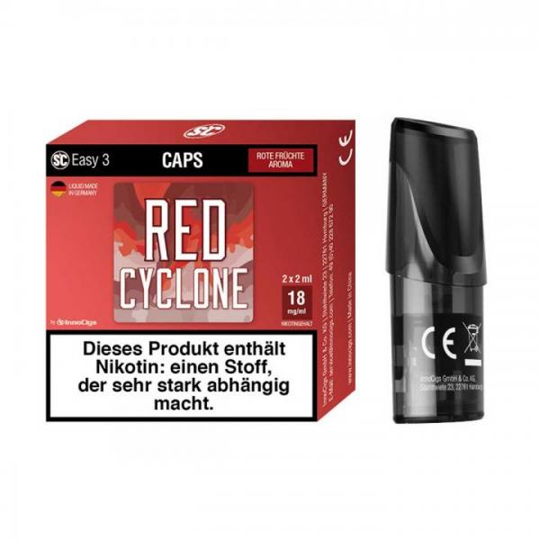 Easy 3 Caps Red Cyclone Rote Früchte (2 Stück pro Packung) Pod