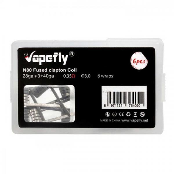 Vapefly 6x Prebuild Ni80 Fused Clapton Coil 0.35 Ohm
