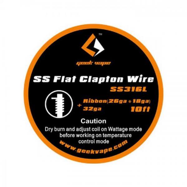 GeekVape Wickeldraht Flat Clapton SS316L 26GA*18GA + 32GA 3m