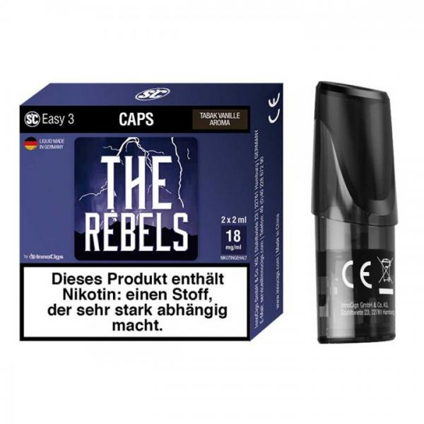 Easy 3 Caps The Rebels Tabak Vanille (2 Stück pro Packung) Pod
