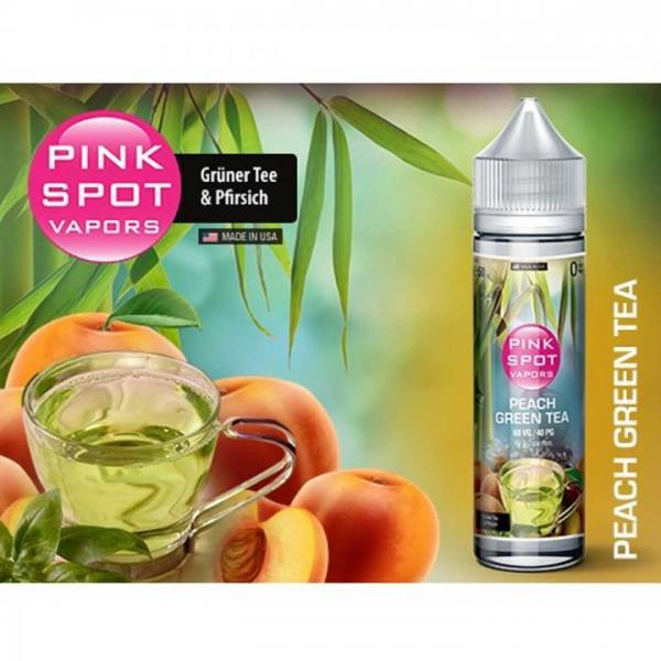 Pink Spot - Peach Green Tea 50ml - 0mg/ml